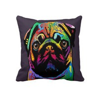 Pug Love Throw Pillow from Zazzle.com