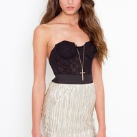 Shimmer Gold Skirt  in  Sale at Nasty Gal