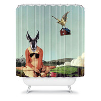 DENY Designs Home Accessories | Natt Birdhouse Shower Curtain