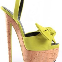 Oxygen | Giuseppe Zanotti Bow Platform Suede Sandal Heel