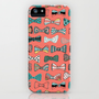 Bow tie geek in pink iPhone & iPod Case by Akwaflorell