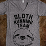 Sloth Running Team (V-Neck) - That Kills Me - Skreened T-shirts, Organic Shirts, Hoodies, Kids Tees, Baby One-Pieces and Tote Bags