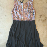 Whimsy & Sparkle Dress in Charcoal [3545] - $36.00 : Vintage Inspired Clothing & Affordable Summer Frocks, deloom | Modern. Vintage. Crafted.