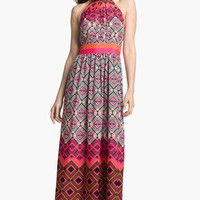 Eliza J Mixed Print Maxi Dress | Nordstrom