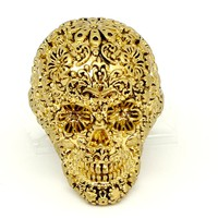 Disney Couture Pirates Gold-plated Skull Ring