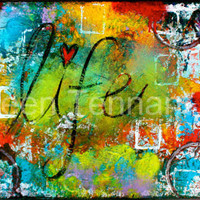 Life  8x14 Signed Mixed Media Print by KathleenTennant on Etsy