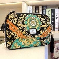 Luxe Ethnic Print Shoulder Bag. Sling bag. Fashionable Handbag Purse