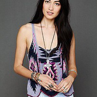 Free People  Pop Color Pattern Tank at Free People Clothing Boutique