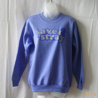 New Hanes lavender Animal Rescue Site small cotton-poly sweatshirt, Save A Stray