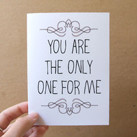 wedding / anniversary card  you are the only one by letterhappy