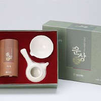 Korean Organic Premium Top Grade Mountain Loose Leaf Green Ceramic Pottery Complete Tea Pot Cup Bowl Gift Set:Amazon:Grocery & Gourmet Food