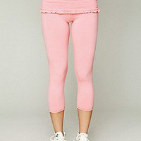 Solow Sport  Foldover Frill Leggings at Free People Clothing Boutique