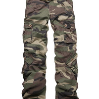 Match Women Green Camo Army Designer Fashion Cargo Pants S, M, L,XL,2XL NWT