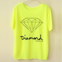 Fluorescent Color Diamond T-shirt