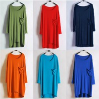 V Neck Long Sleeves T-shirt