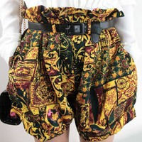 Baroque Printed Boxer Shorts with Belt