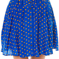 LA Boutique Skirt Sunday Swinger in Blue