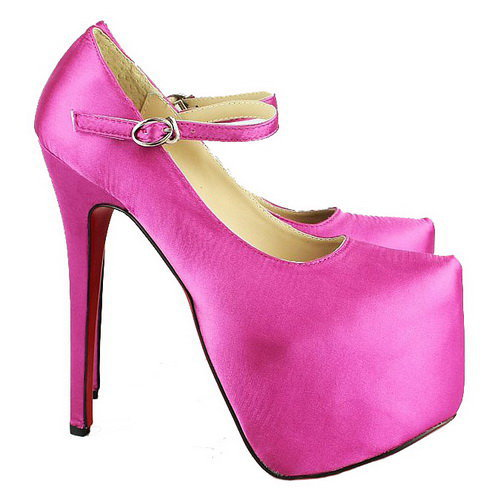 Christian Louboutin Lady Daf 160mm Mary Jane Satin Pumps Pink