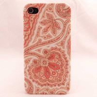 Pink Vintage Flower  Fabric Phone Case