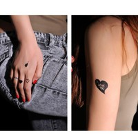 4 Pcs Cupid with Arrow Heart Shaped Non-toxic Temporary Tattoo Stickers - Tattoos - Makeup - Women Free Shipping