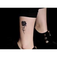 4 Pcs Romantic Roses Temporary Waterproof Tattoo Stickers - Tattoos - Makeup - Women Free Shipping