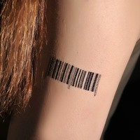 4 Pcs Funny Barcode Non-toxic Temporary Tattoo Stickers - Tattoos - Makeup - Women Free Shipping