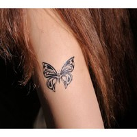4 Pcs Pretty Butterfly Non-toxic Temporary Tattoo Stickers - Tattoos - Makeup - Women Free Shipping