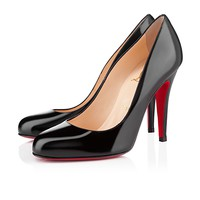 ron ron 100mm black patent leather