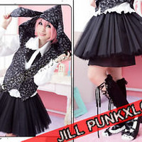 Kera Punk Lolita Japan 4 Layer Dolly Solid Petticoat B