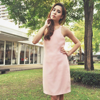 Amitara Loathe One Shoulder Light Pink Dress