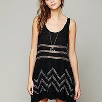 Free People Voile and Lace Trapeze Slip