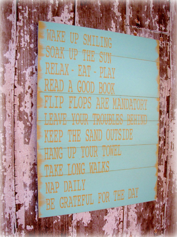 Cottage Rules Beach House Rules Lake House Rules by cellardesigns