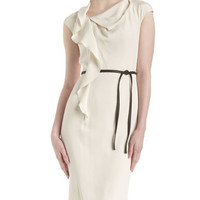 Sandwashed Crepe Dress, Raffia