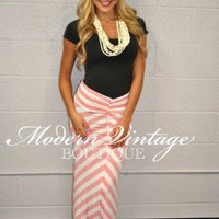 Cant go wrong with Chevron Coral - Modern Vintage Boutique