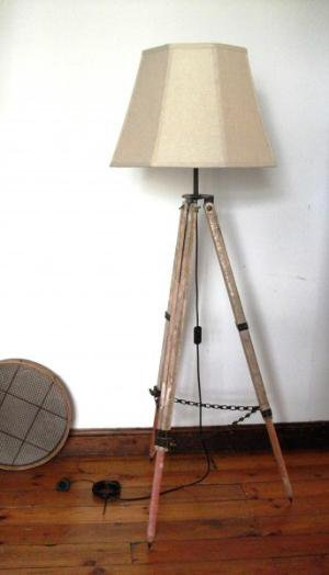 Tripod Lamp &amp;#8211; Surveyor bleached wood  Lighting  Recreate