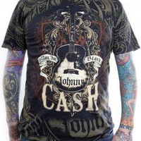 Johnny Cash, T-Shirt, Man In Black, All Over Print