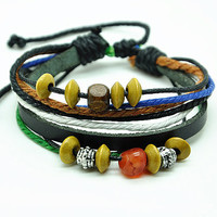 Jewelry Bangle bracelet women Leather Bracelet Girl Ropes Bracelet Men Leather Bracelet RZ0271