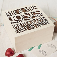 personalised wooden wedding keepsake box by sophia victoria joy | notonthehighstreet.com