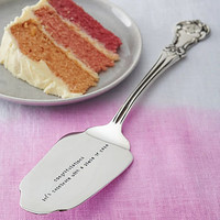 personalised silver plated cake slice by the cutlery commission | notonthehighstreet.com