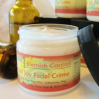 Natural Acne Blemish Control Soy Facial Creme by crimsonhill