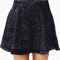 Dark Acid Skater Skirt