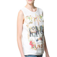 COMBINATION PRINTED T-SHIRT - Woman - New this week - ZARA United States