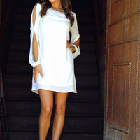 RESTOCK: Jewel Be Mesmerized Dress: White | Hope's