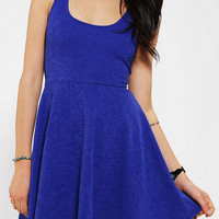 Silence & Noise Textured Knit Skater Dress