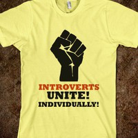 $23.74 Introverts Unite, Individually T-shirt | Skreened - Ethical Custom Apparel