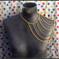 multi color body chain necklace unique necklace by alapopjewelry