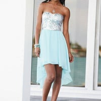 Sequin Hi-Lo Party Dress -
