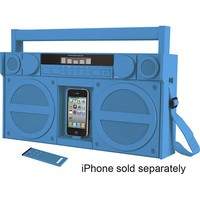 iHome - iP4 Boombox with FM Radio and Apple® iPhone® and iPod® Dock - Blue