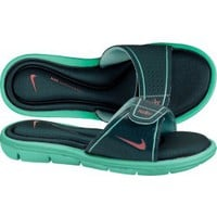 Nike Women's Comfort Slide - Aqua/Green | DICK'S Sporting Goods