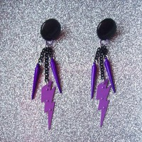 Spike Strike - Jem Inspired  Charm Earrings from On Secret Wings